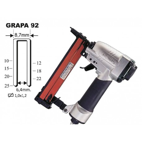 Grapadora 92/25 (grapa 92 hasta 25 mm)